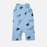 Dinosaur Romper Powder Blue