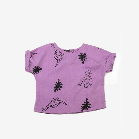Dinosaur Shirt in Lavender