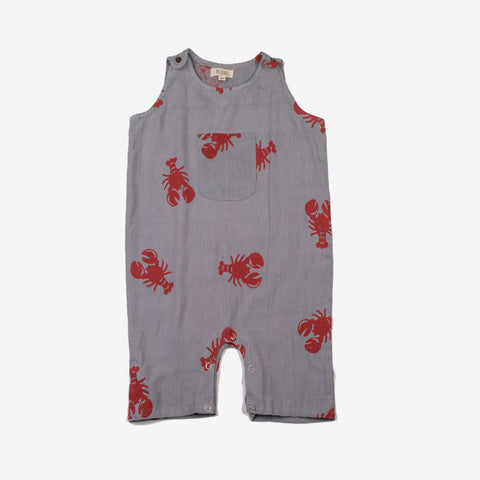 Lobster Romper Grey