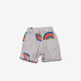 Rainbow Rolled Hem Shorts Rainy Grey