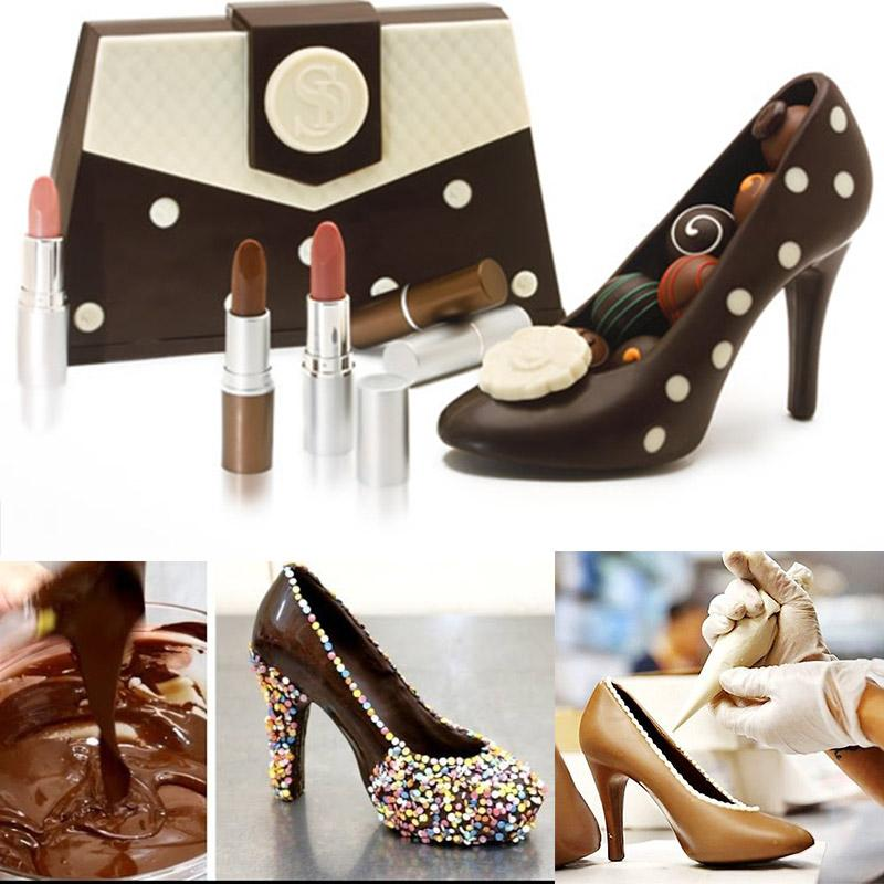 3D Stiletto Shoe Plastic Chocolate Molds (2 sizes available) - Shop Save & Bake