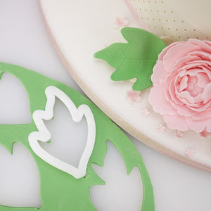 3 pcs./set Easiest Peony Flower and Leaf Fondant Cutters - COD Philippines - Shop Save & Bake