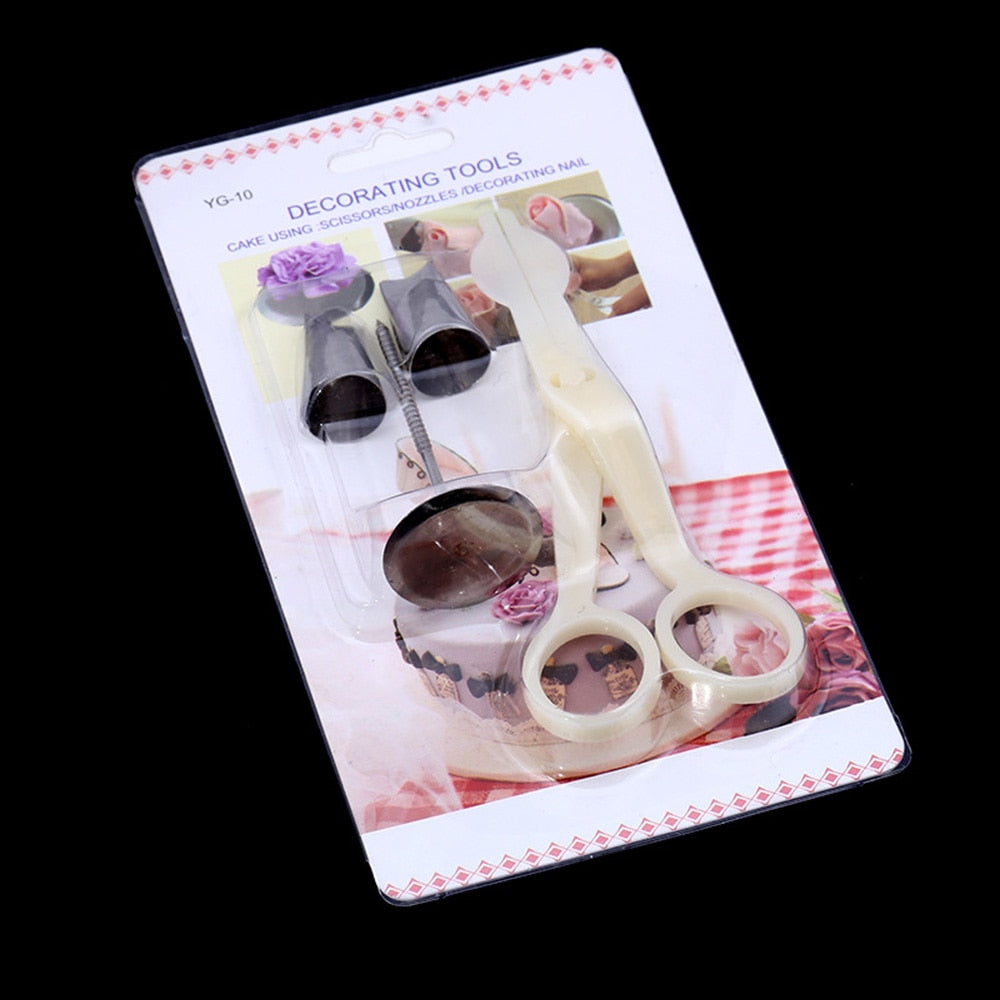 Icing Flower Nail and Scissors Set - Shop Save & Bake