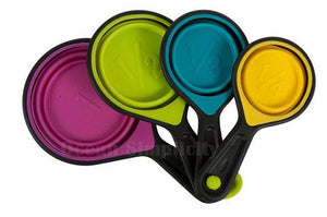 4 pcs./set Collapsible Silicone Measuring Cups - Shop Save & Bake