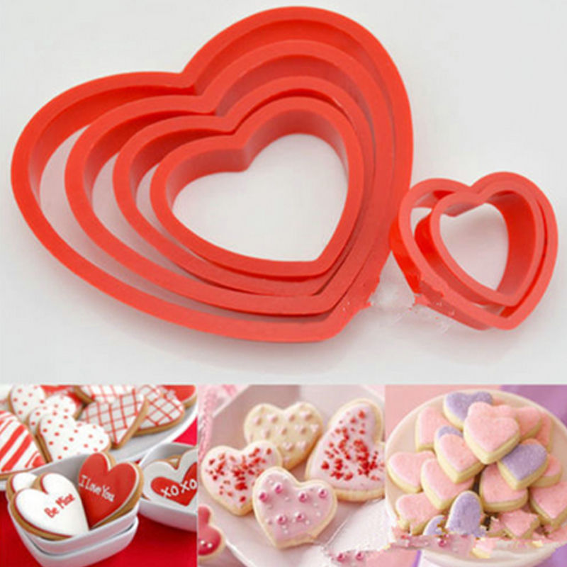 6 pcs./set Heart Cookie Cutters - Shop Save & Bake