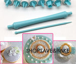 8 Patterns Embosser Clay/Fondant Tool Set II - Shop Save & Bake