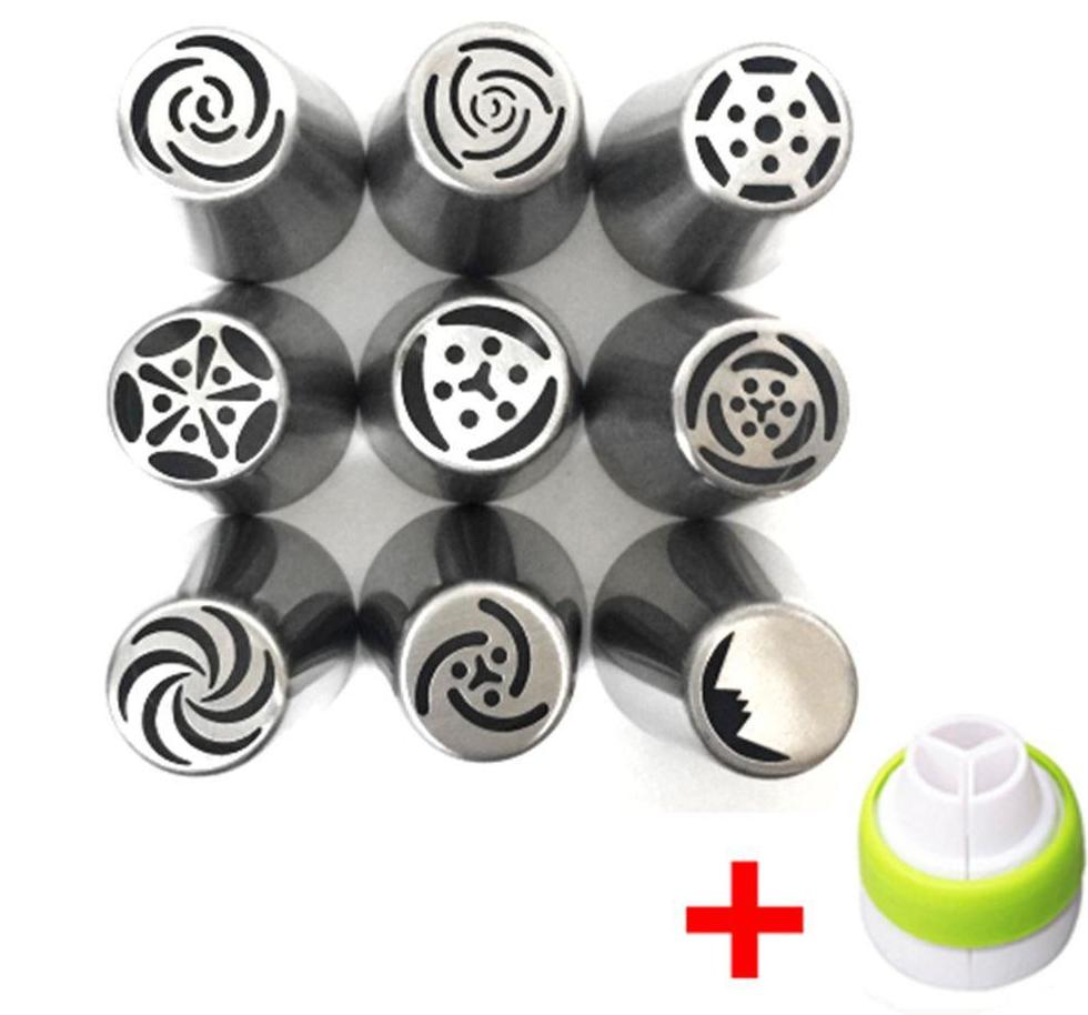 9 pcs. Tulip Flower Icing Tips Plus Coupler (Set 1) - Shop Save & Bake