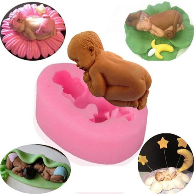 Sleeping Baby Silicone Mold - COD Philippines