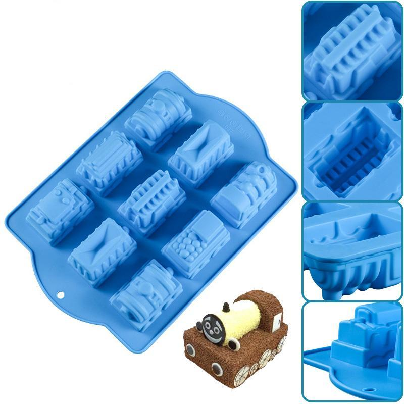 7 Holes Train Chocolate Silicone Mold - Shop Save & Bake