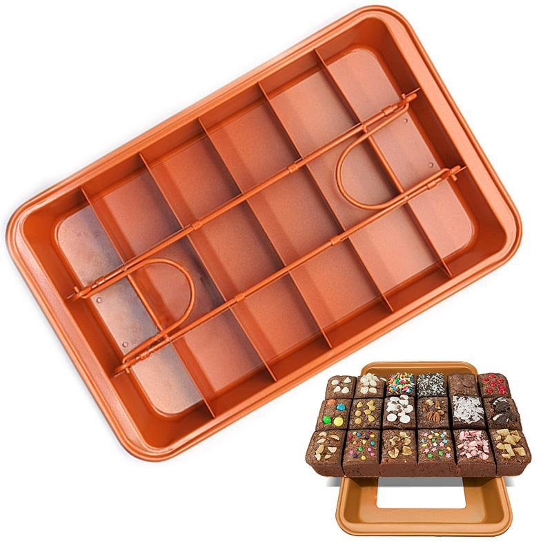 Non-Stick Perfect Brownie Pan - Shop Save & Bake