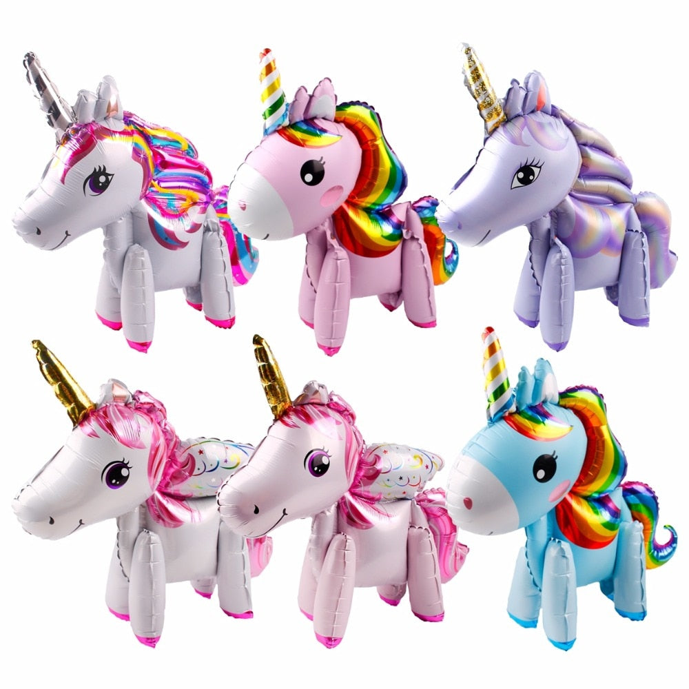 Unicorn Balloons - Foil and Latex (17 Designs Available) - Shop Save & Bake