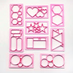 9 pcs./set Geometric and Fun-Shaped  Fondant Cutters - Shop Save & Bake