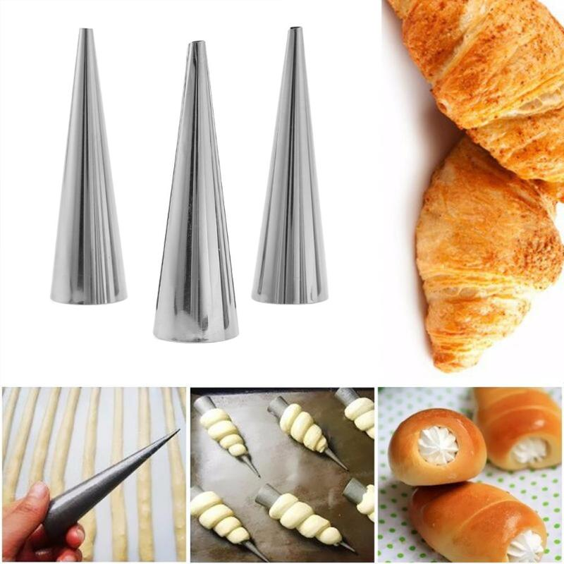 3 pcs. Stainless Steel Pastry Cone Mold (2 Sizes Available) - COD Philippines - Shop Save & Bake