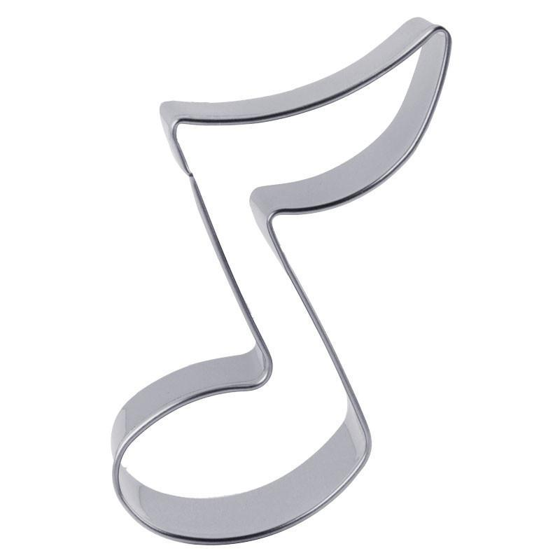 Stainless Steel Musical Note Cookie Cutter (Eighth Note) - Shop Save & Bake