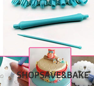 8 Patterns Embosser Clay/Fondant Tool Set - COD Philippines - Shop Save & Bake