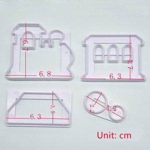 4 pcs./set Train Set Cutters - COD Philippines - Shop Save & Bake