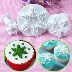 3 pcs./set Snowflake Fondant Plungers - COD Philippines - Shop Save & Bake