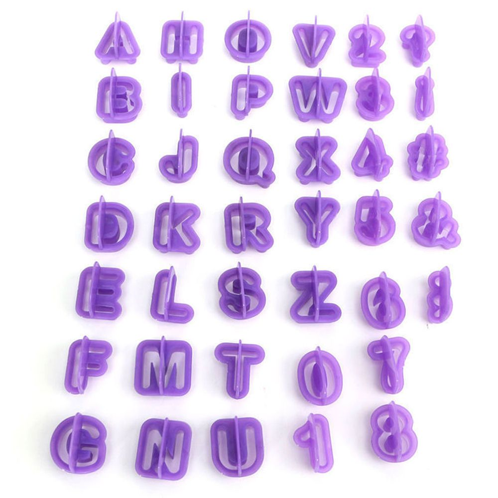 40 pcs. Alphabet / Letters Cookie Cutters - COD Philippines - Shop Save & Bake
