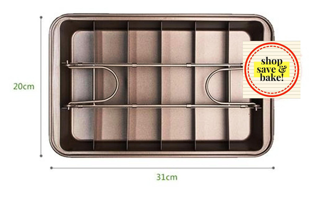 High Quality Non-Stick Easy Brownie Pan - Shop Save & Bake