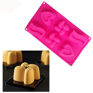 Multi-Style 3D Cake Art Silicone Mold - Shop Save & Bake