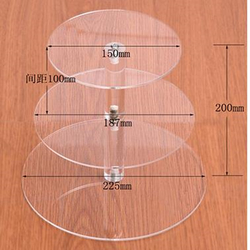 Round Acrylic Cake and Cupcake Stand  (2 variants available) - Shop Save & Bake