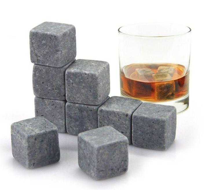 9 pcs. Amazing Reusable Whiskey Stones with Free Carrying Pouch - Shop Save & Bake