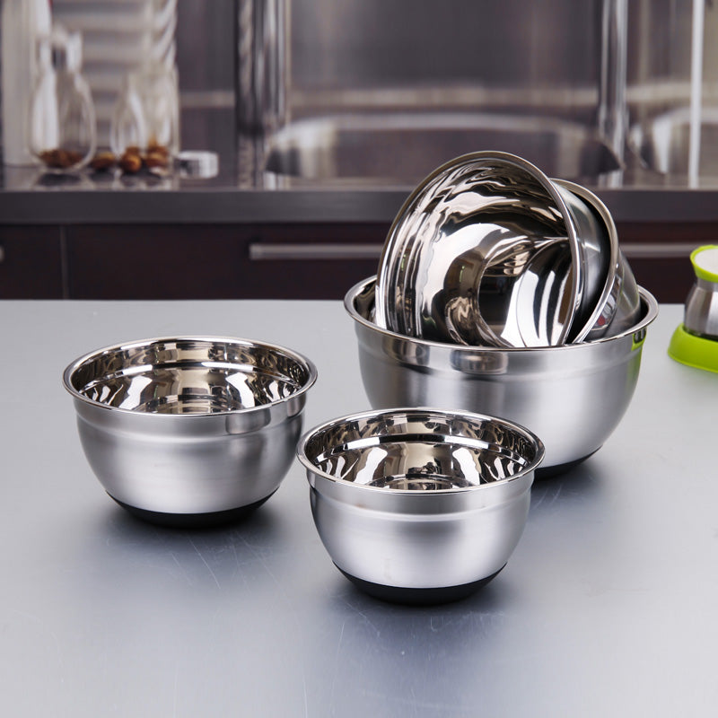 Stainless Steel Non-skid Mixing Bowl (different sizes available) - Shop Save & Bake