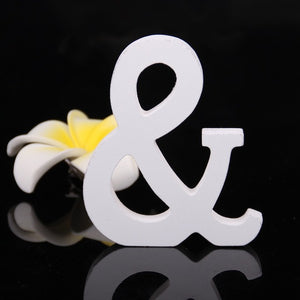 White Wooden Letters - Shop Save & Bake