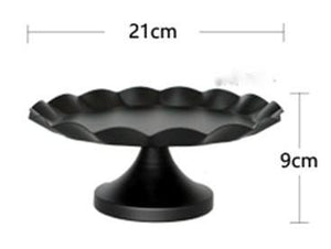 Black Metal Cake Stands (available in 3 sizes) - Shop Save & Bake