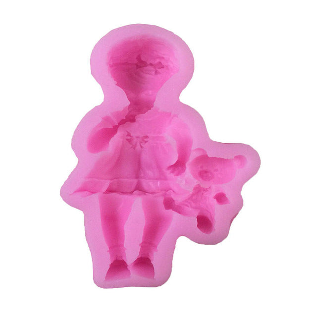 Baby Boy and Girl Silicone Mold - Shop Save & Bake