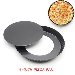 9-Inch Non-Stick Removable Bottom Pie Pan (best for pies, pizzas and quiche) - Shop Save & Bake