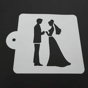 5-inch The Wedding Stencil - Shop Save & Bake