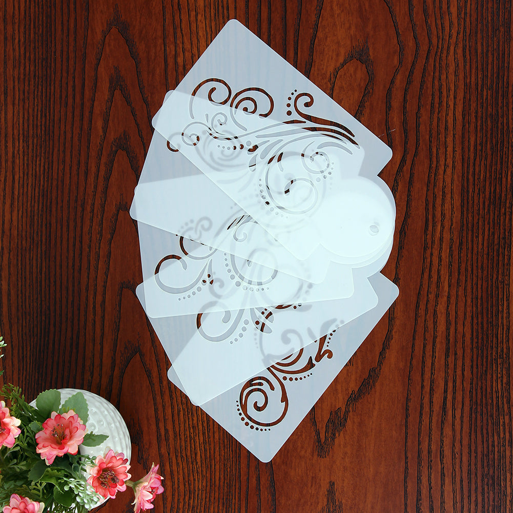 5 pcs. Vintage Style Cake Stencils - Shop Save & Bake
