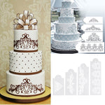4 pcs. Vintage Wedding Lace Cake Stencils - Shop Save & Bake