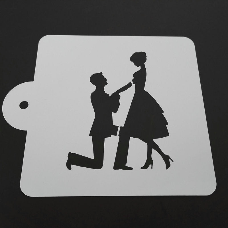 5-inch The Wedding Proposal Stencil - Shop Save & Bake