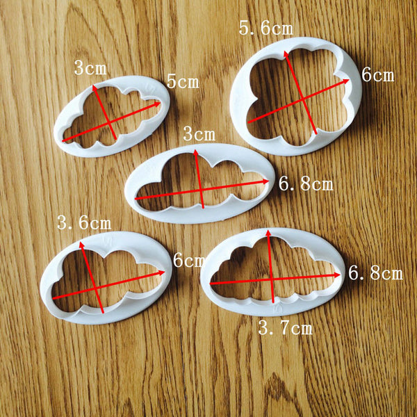 5 pcs. / set Clouds Fondant and Cookie Cutter - COD Philippines - Shop Save & Bake