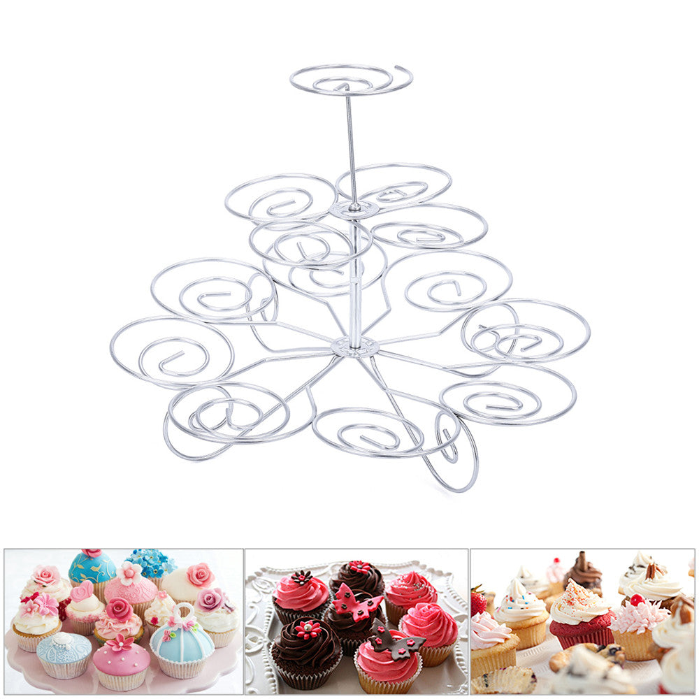 Detachable 3-Tier Cupcake Stand (13 cupcakes capacity) - Shop Save & Bake