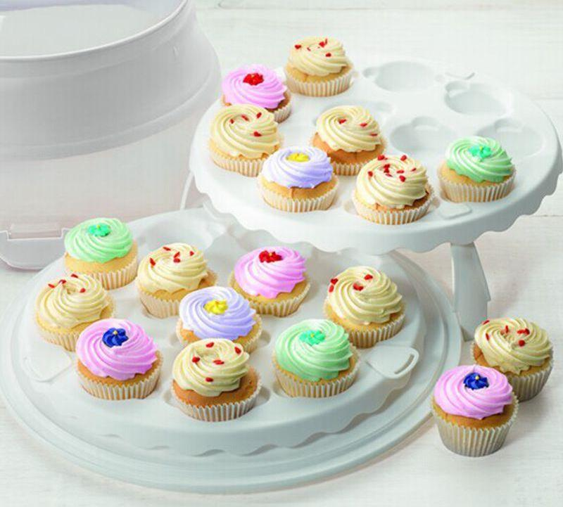Easy Travel Cupcake and Cake Courier, Holder and Stand - Shop Save & Bake