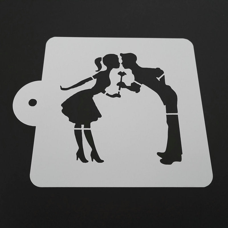 5-inch The Kiss Stencil - Shop Save & Bake