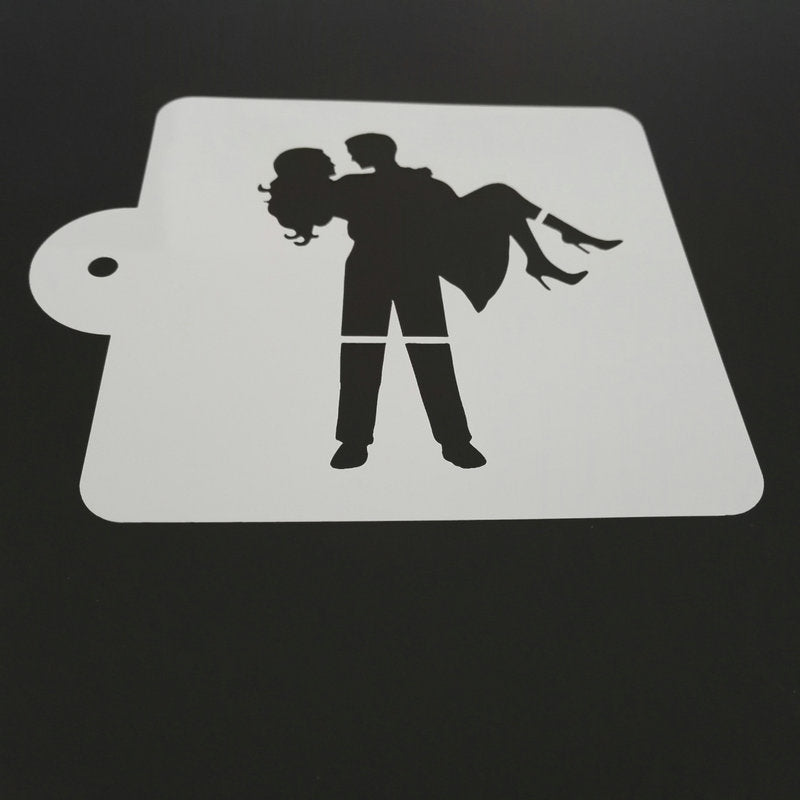 5-inch The Couple in Love Stencil - Shop Save & Bake