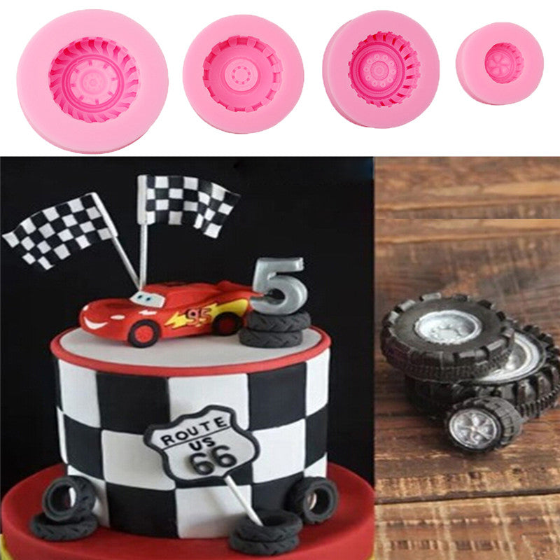 4 pcs./set Wheels Silicone Mold - Shop Save & Bake