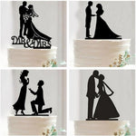 Mr. and Mrs. Black Acrylic Cake Toppers (14 variants available) - Shop Save & Bake
