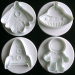 4 pcs./set Spacecraft Fondant Plungers - Shop Save & Bake