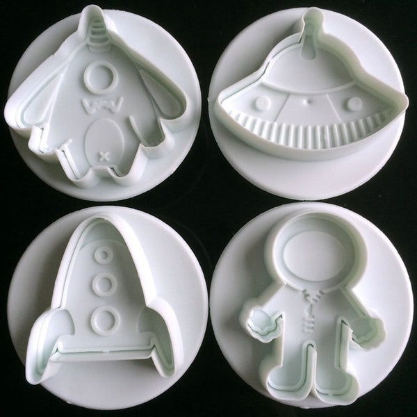 4 pcs./set Spacecraft Fondant Plungers - COD Philippines - Shop Save & Bake