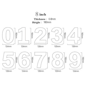 Acrylic Number Stencils (2 sizes available) - Shop Save & Bake