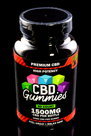 50 Count High Potency CBD Gummies - CBD258