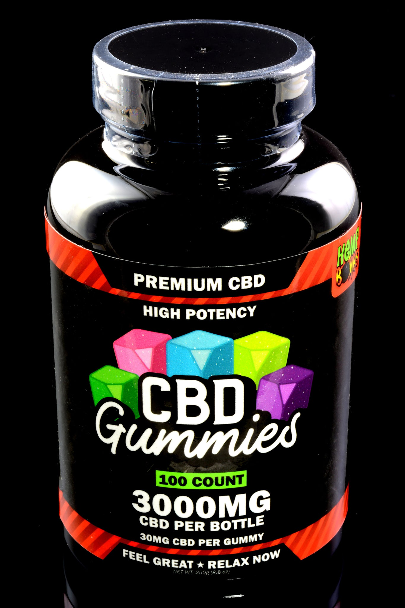 100 Count High Potency CBD Gummies - CBD259