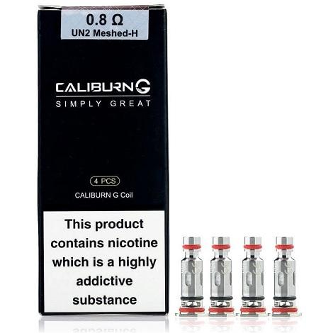 UWELL CALIBURN G REPLACEMENT COILS 0.8ohm UN2 Meshed-H 4 Pcs per Pack in best price online available