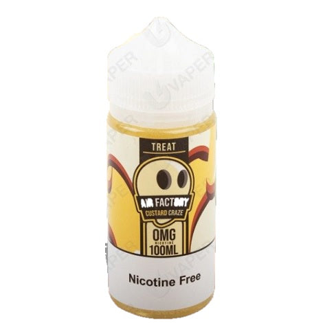 Air Factory Custard Craze nicotine free 100ml Eliquid bottle new vape flavor collection near me Treat Ejuice