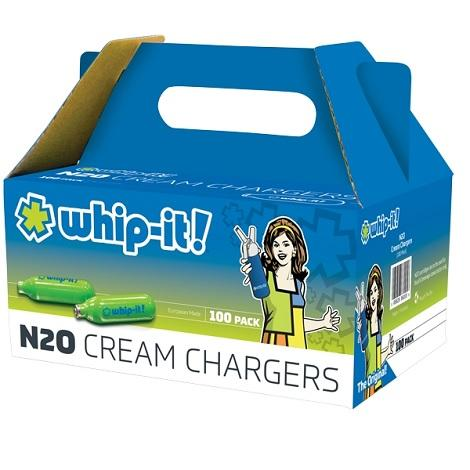 Whip It Cream Charger Nitrous Oxide Charger for Cream Whipping Dispenser 1/2 Liter 100 packs near me online shop